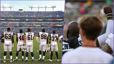 NFL National Anthem Protest: Miami Dolphins Players Raise Fists, Kneel, Walks Out Before NFL Preseason Opener 2018