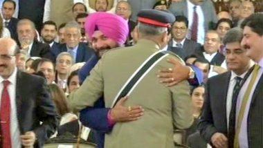 BJP Attacks Navjot Singh Sidhu For Hugging Pakistan Army Chief Qamar Javed Bajwa