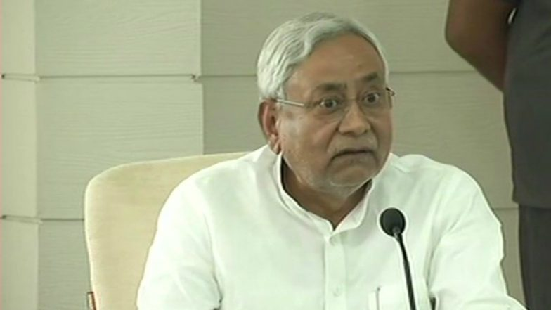 Student Throws Sandal at Bihar CM Nitish Kumar at a Public Function
