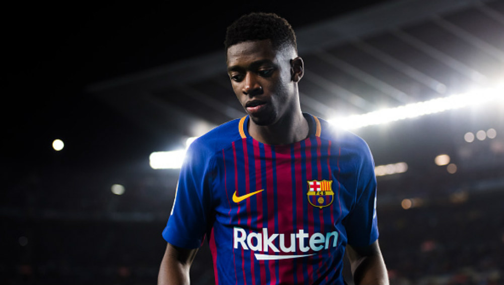 Barcelona's Ousmane Dembele Out For 10 Weeks With Hamstring Injury