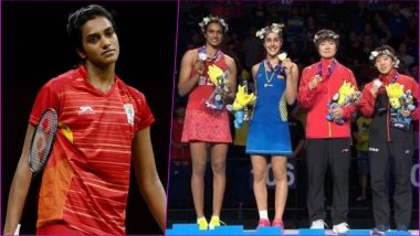 PV Sindhu Settles for 2018 BWF World Championships Silver: Defeat Against Carolina Marin in China Is Her Fourth Straight Loss in Finals This Year!