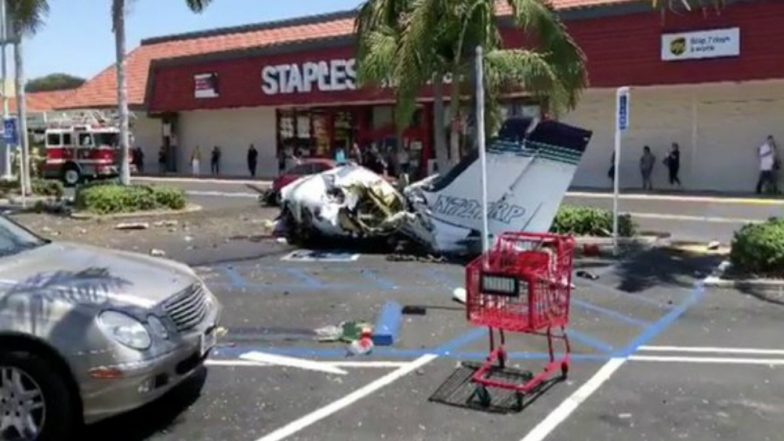 Five Killed as Plane Crashes in Mall Parking in California