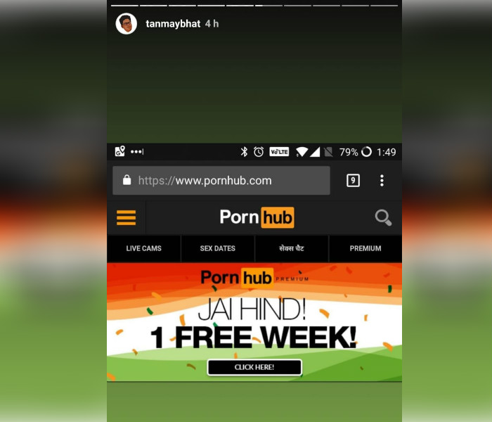 Pornhubcom Subscription For Free Indian Users To Get 1 Week Access On The Porn Site -7477