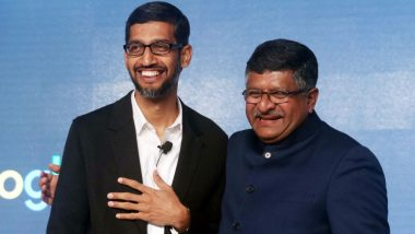 IT Minister Ravi Shankar Prasad Meets Sundar Pichai, Seeks Google's Role in Digital Village Initiative