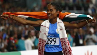 Hima Das-Led Indian Women's 4 x 400m Relay Team Wins Gold Medal at Asian Games 2018