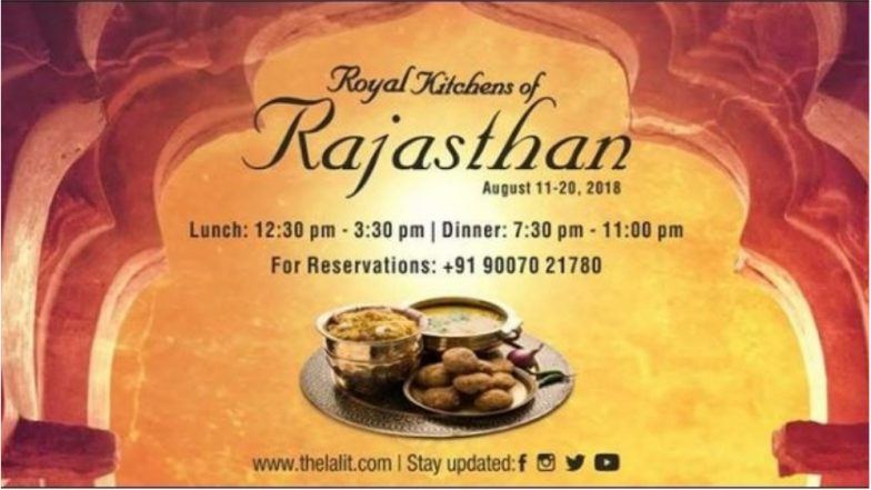 Enjoy Royal Rajasthani Dishes at the Ongoing Food Festival Organised by The LaLit, Kolkata