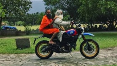 Sadhguru Takes Baba Ramdev on a Bike Ride Through Scenic Outskirts of Coimbatore (Watch Video)