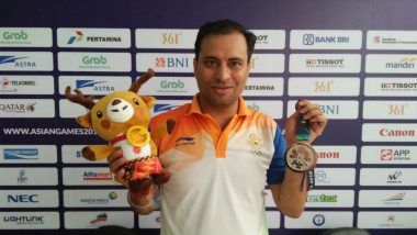 Asian Games 2018: Indian Shooter Sanjeev Rajput Bags Silver in Men's 50m Rifle 3 Positions
