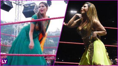 Sapna Choudhary or Rakhi Sawant, Which Diva Dancing on 'Teri Aakhya Ka Yo Kajal' Song in WWE Ring Won Your Heart? Watch Viral Video to Decide