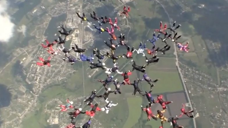57 Women Jump From Planes Setting Skydiving World Record in Ukraine (Watch Video)