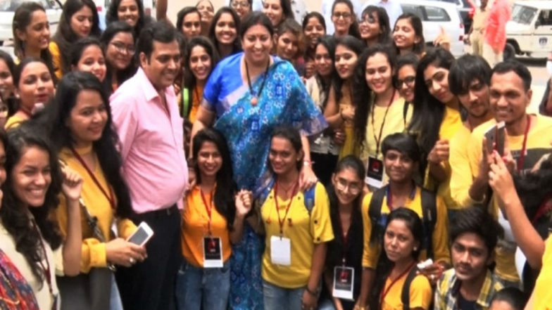 Smriti Irani Interacts with Students of Institute of Design & Technology