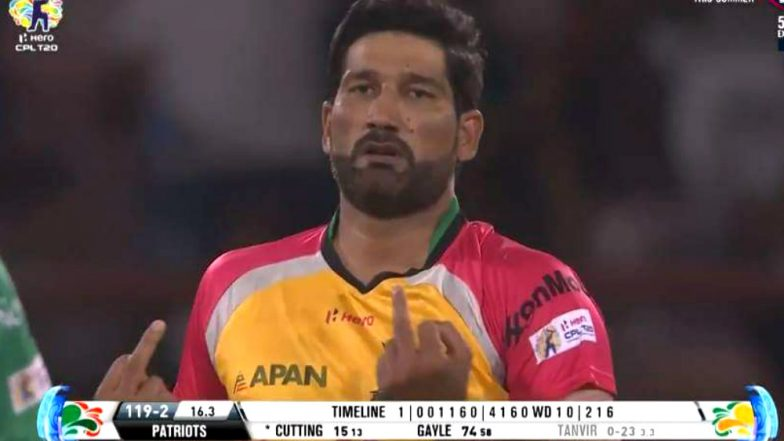 CPL 2018: Sohail Tanvir Shows 'Double Middle-Finger' As He Celebrates Ben Cuttings' Wicket in St Kitts vs Guyana Match (Watch Video)