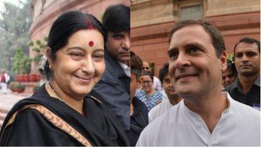 Doklam Issue: Rahul Gandhi Fires Fresh Salvo, Says Sushma Swaraj Buckled Before China