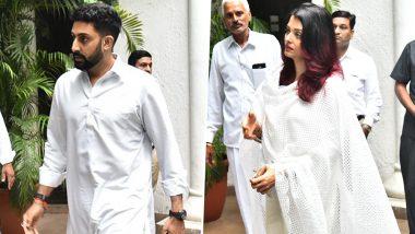 Shweta Bachchan Nanda's Father-in-law Rajan Nanda's Funeral Pics: Abhishek Bachchan and Aishwarya Rai Bachchan Attend