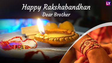 Happy Raksha Bandhan 2018 Greetings for Brother: GIF Images, Facebook Status, WhatsApp Messages & Quotes to Wish Your Sibling on Rakhi