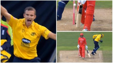 Josh Poysden Bowls a Similar Delivery as Shane Warne's 'Ball of the Century' in a Vitality Blast T20 Match: Watch Videos