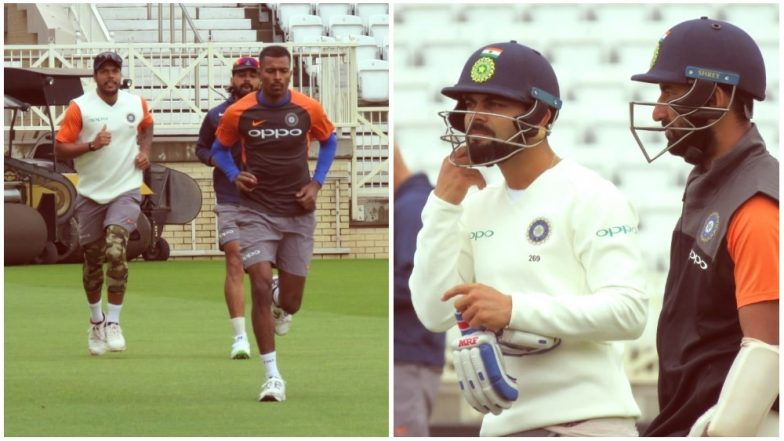 After Harsh Criticism, Indian Team Begins Their Training Session At Trent Bridge Ahead of Third Test Match Against England: View Pictures