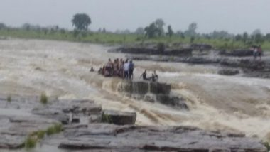 Elven Youth Drowned, Seven Rescued After Water Level Increased Near Waterfall in Madhya Pradesh's Shivpuri District (Watch Video)
