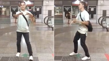 Kiki Challenge Mania Continues: Man Dances Alongside a Moving MRT Train in Singapore (Watch Video)