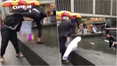 Uber Driver Throws Passenger in a Fountain in Manhattan! Here's Why (Watch Video)