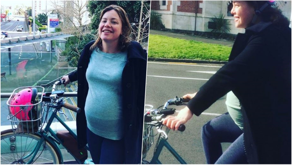 New Zealand minister rides bicycle to hospital to give birth