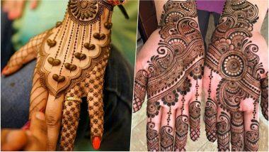 Kajari Teej 2018 Mehndi Designs: Significance of Applying Mehndi & Latest Henna Patterns