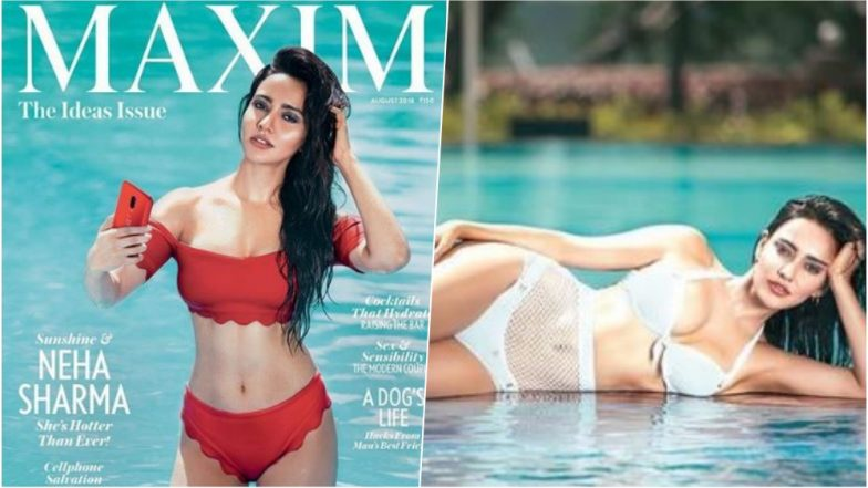 Neha Sharma Oozes Sexiness in Red Hot Bikini on the Latest Cover of Maxim Magazine (See Pics)