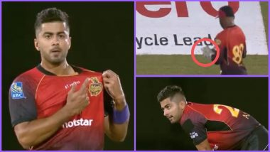 CPL 2018: Trinbago Knight Riders Bowler Ali Khan & Captain Dwayne Bravo Prematurely Celebrate Fall of a Wicket, Watch Funny Video