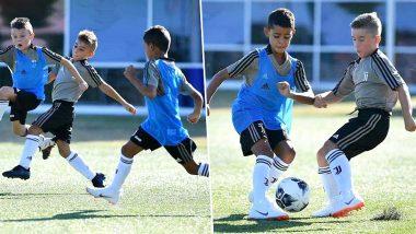Cristiano Ronaldo Jr Joins U9 Juventus Training Academy (See Pics)