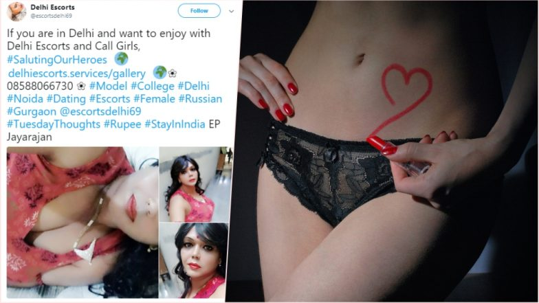 'Delhi Escorts' Blatantly Uses Trending Hashtags to Advertise College Girls  and Russian Models for