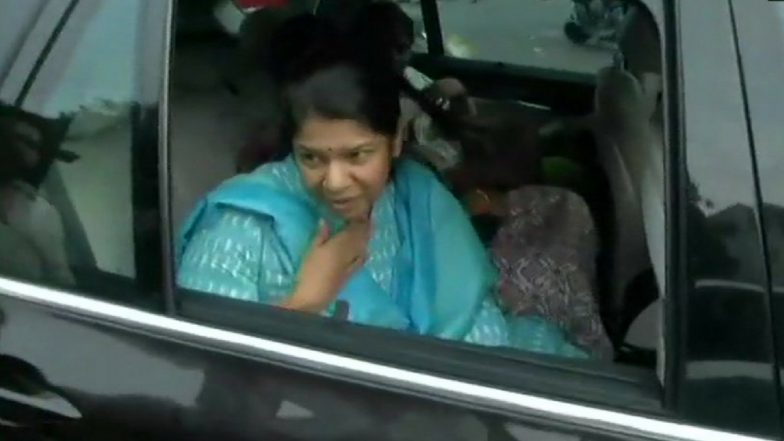 M Karunanidhi Health Update: Daughter Kanimozhi Meets People Gathered Outside Kauvery Hospital in Chennai