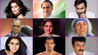 Famous Indian Celebrities' Birthdays in August: From Sridevi to Rajiv Gandhi to the Great Khali, You Share Your Birthday Month With These Influential Figures