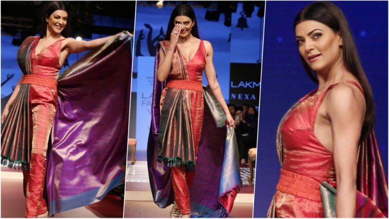 Lakme Fashion Week Winter/Festive 2018 Day 2 Pics: Sushmita Sen Rocks a Traditional Saree with a Modern Twist