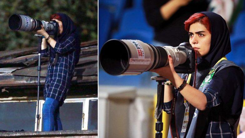 Iranian Female Photojournalist Parisa Pourtaherian Praised on Twitter for Covering Men's Football Match