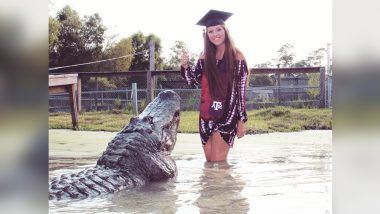 Graduation Snap Ideas! This Girl in Texas Had an Alligator to Pose With, See Viral Pics!