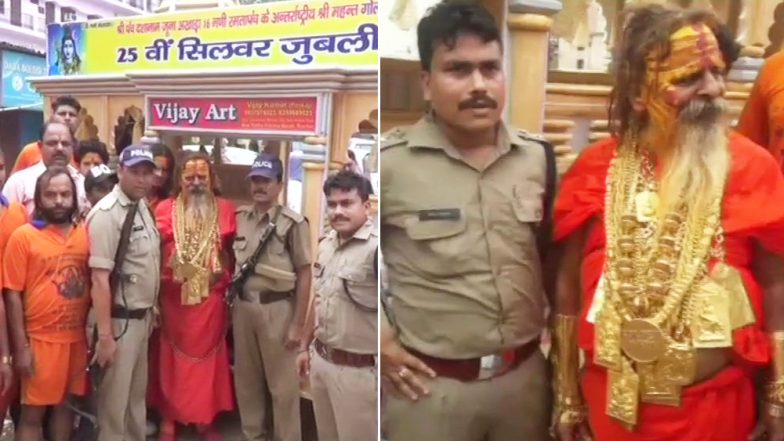 Golden Baba is Back on Kanwar Yatra, This Time With 20 kg Gold; See Pics