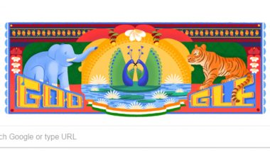 India Independence Day 2018 Google Doodle: India's Iconic Colorful Plantlife and Mighty Animals Wishes Happy Swatantrata Diwas