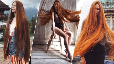 Russian Woman With Rapunzel Hair Once Suffered From Baldness! View Stunning Pics of Her Hair