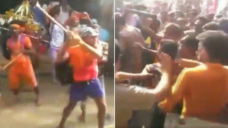 Kanwariya Vandalism in Uttar Pradesh: 6 Kanwariyas Including Main Accused Pappu Arrested For Vandalising Police Vehicle in Bulandshahr