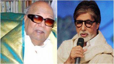 Karunanidhi Gets a Special Tribute by Amitabh Bachchan, Big B Remembers When Kalaignar Awarded Him His First National Award