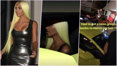 Kim Kardashian West Gets Neon Green Lamborghini to Match Her Hair & Enjoy the Nights at Miami, View Pics