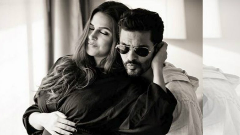 Neha Dhupia Glows Like a Moon in This Beautiful Pregnancy Photo-Shoot For Filmfare With Husband Angad Bedi (View Pics Inside)