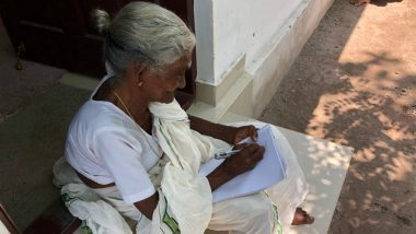 Age No Bar! Kerala's Karthyayani Amma Writes Literacy Exam Aksharalaksham at an Age of 96