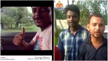 Uttar Pradesh Police Gets Hold of Those Attempting Kiki Challenge And Makes Them Urge People Against Doing It (Watch Video)