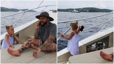 Daughter Snatches Russian Rapper Timati's Phone and Throws It in Water for Not Paying Attention to Her (Watch Video)