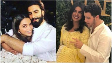 Deepika Padukone and Ranveer Singh Wedding: Couple Likely to Host Three Receptions; One Will Clash With Priyanka Chopra – Nick Jonas' Wedding