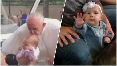 Little Girl Kissed By Pope Francis Miraculously Recovers From Brain Tumour