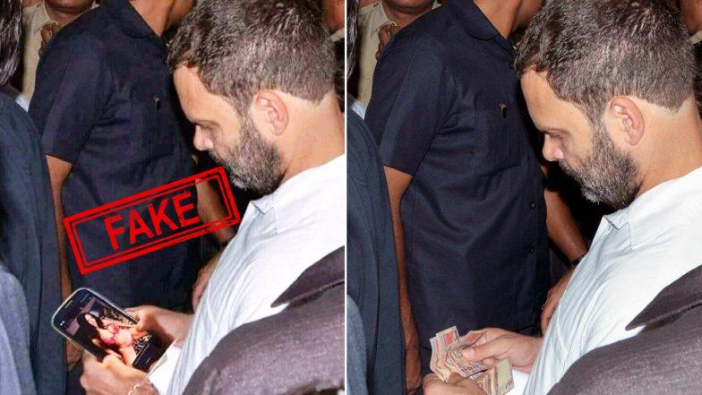 Rahul Gandhi Watching Porn Movie on His Mobile Phone is FAKE! See The Original Image