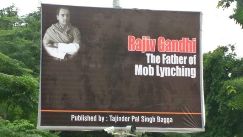 'Rajiv Gandhi The Father of Mob Lynching': BJP Man Tajinder Pal Singh Bagga Puts up Posters Across Delhi