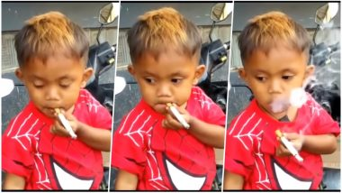 Indonesian Toddler Smokes 40 Cigarettes A Day! Gets Addicted After Smoking Discarded Butts On The Street (Watch Video)